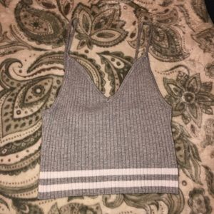 grey tank top cropped